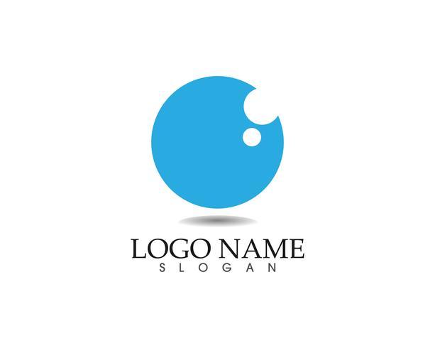 Ojo cuidado logotipo y símbolos plantilla vector iconos aplicación