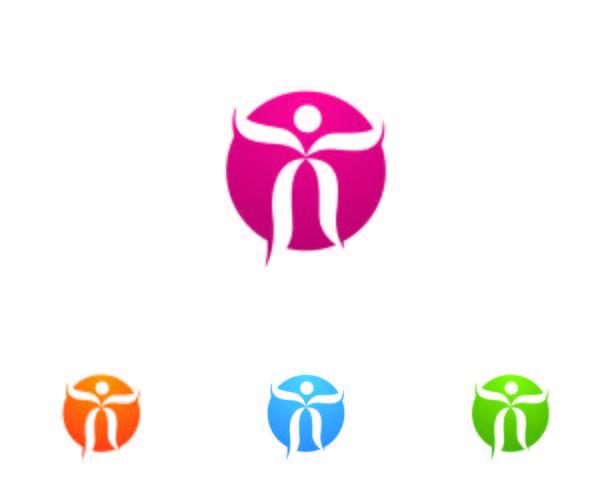 Plantilla de logotipo y símbolos de Health people logo care