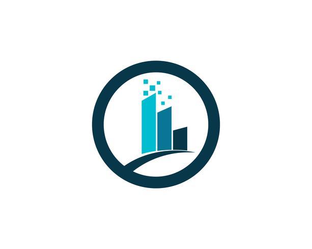 Winkelcentrum logo en symbolen zakelijke sjabloon pictogrammen