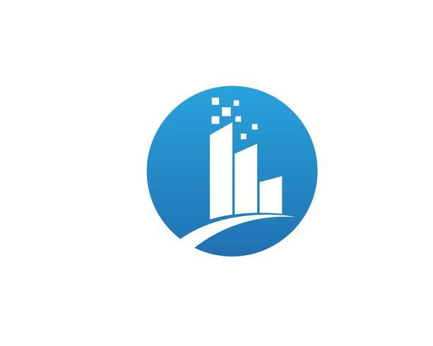Ícones de modelo de negócios e logotipo do centro comercial
