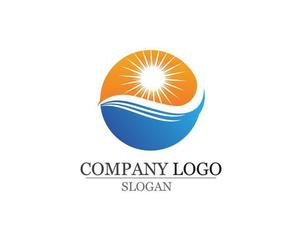 Golven strand logo en symbolen sjabloon pictogrammen app
