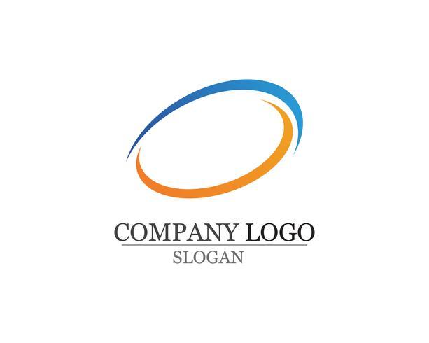 Geschäftsfinanzlogo und Symbole vector Konzeptillustration