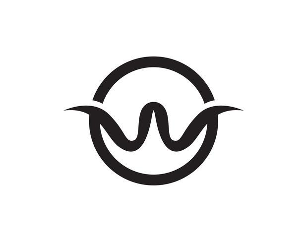 W letras de negocios logotipo y plantilla de símbolos ...