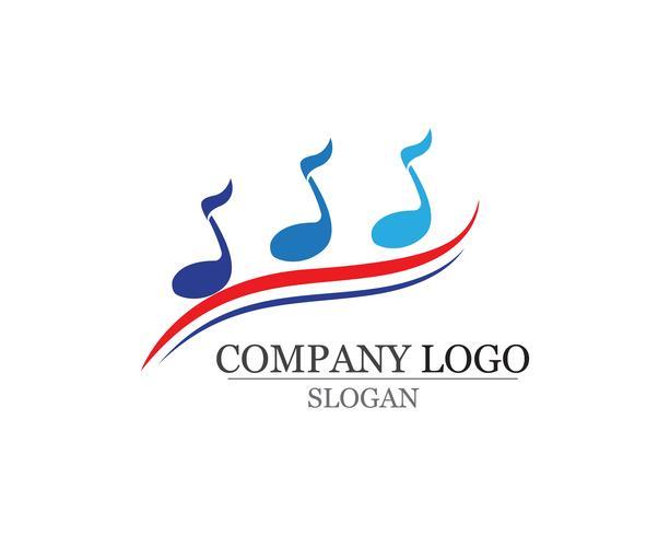 App di simboli musicali logo e icone modello app