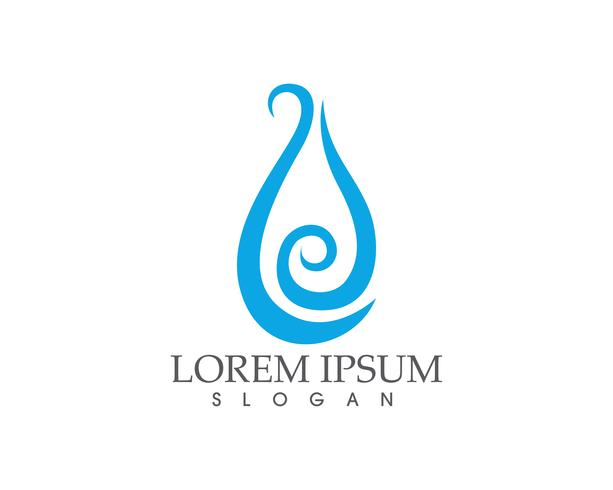 Agua gota naturaleza logotipo y símbolos plantilla de aplicación de iconos ..