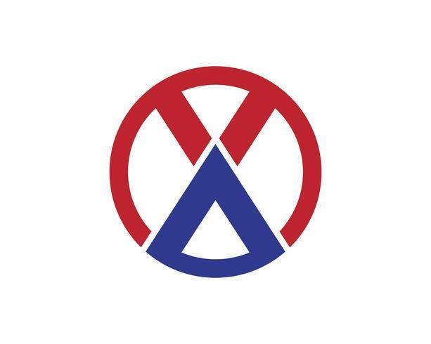 X Letter Logo Mall vektor ikon design ..
