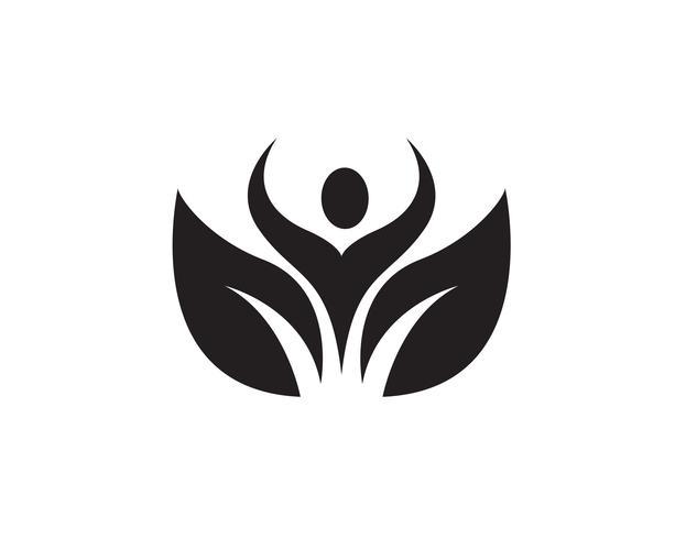 mensen zorg succes gezondheid leven logo sjabloon pictogrammen ..