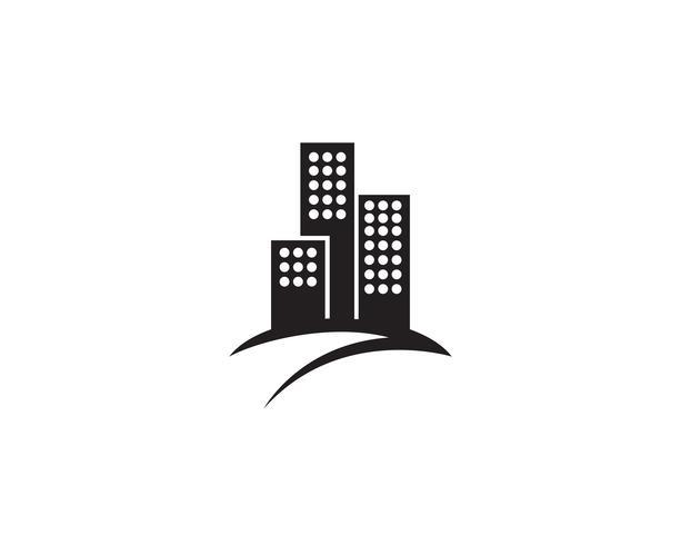 onroerend goed huis en huis logo's sjabloon