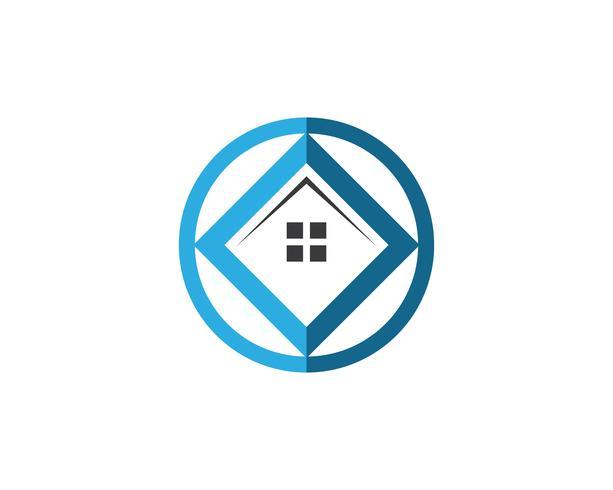 fastighetshus och logotyp mall vektor, vektor