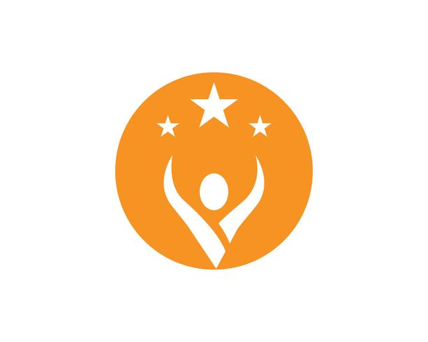 mensen zorg succes gezondheid leven logo sjabloon pictogrammen.