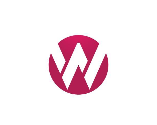 W letras de negocios logo y símbolos plantilla de aplicación de icono
