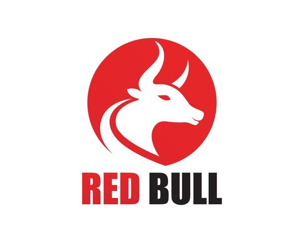 Red Bull-hoornembleem en symbolenmalplaatjepictogrammen