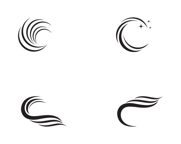 Golven strand logo en symbolen sjabloon pictogrammen
