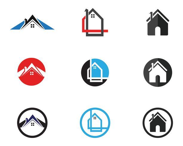Accueil logo et symboles modèle app icônes vecteur