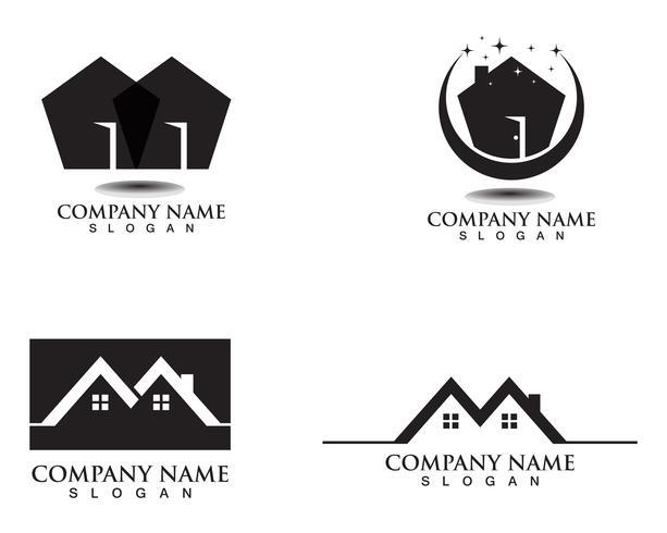 Plantilla de logotipos de casa y casa