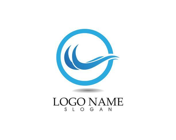 Aplicación de iconos de símbolos y símbolos de la playa de olas.