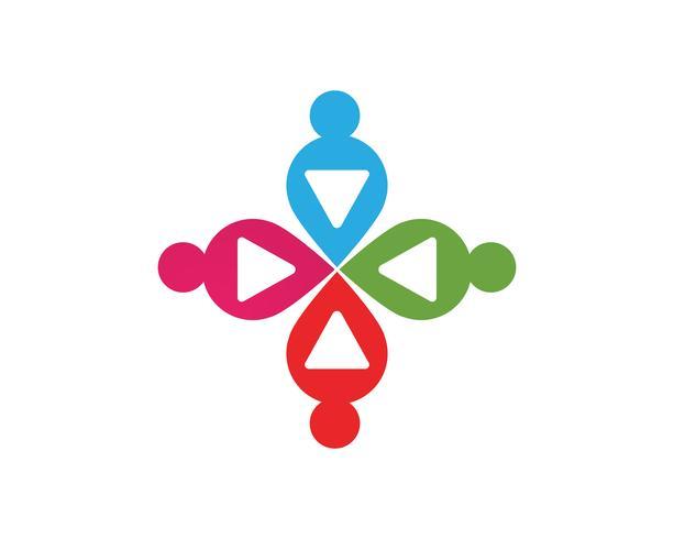 Plantilla de logotipo e íconos de símbolos de nota musical