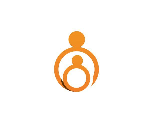 Adopción y cuidado de la comunidad Logo plantilla vector icono ...