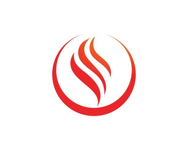 Brand vlam natuur logo en symbolen pictogrammen sjabloon,