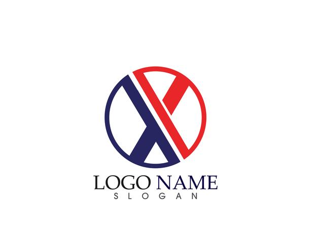 X brief Logo Template vector pictogram ontwerp