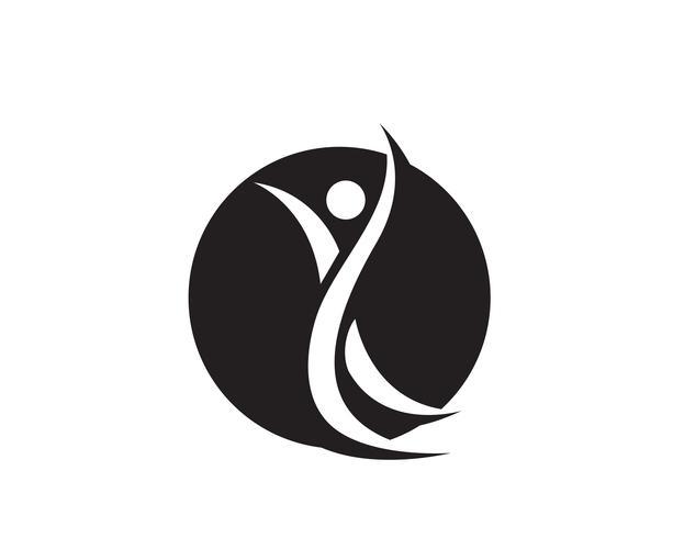 Succès de santé personnes soins logo et symboles modèle ..