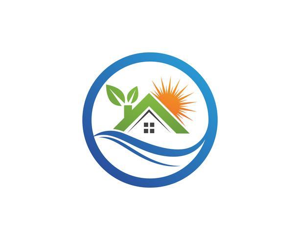 eigenschap huis en huis logo's sjabloon vector,