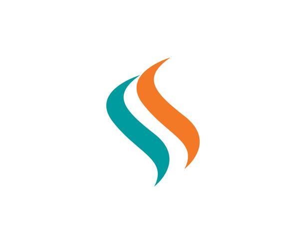 F logo Fire flame natuur logo en symbolen pictogrammen sjabloon