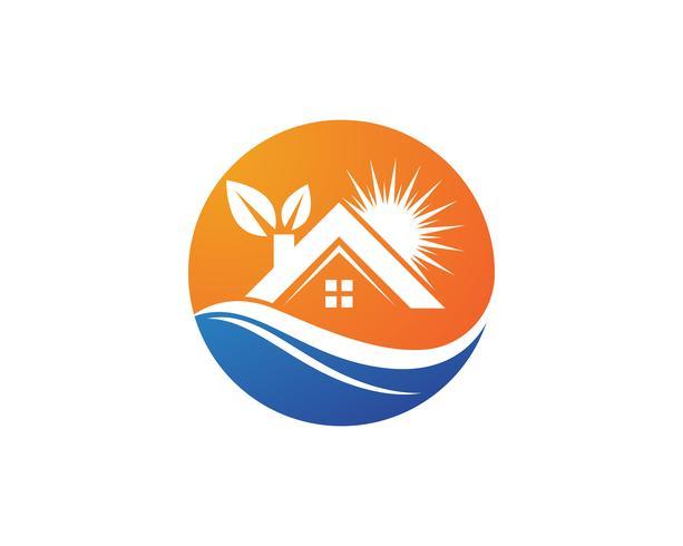 Eigentum Haus und Haus Logos Vorlage Vektor,