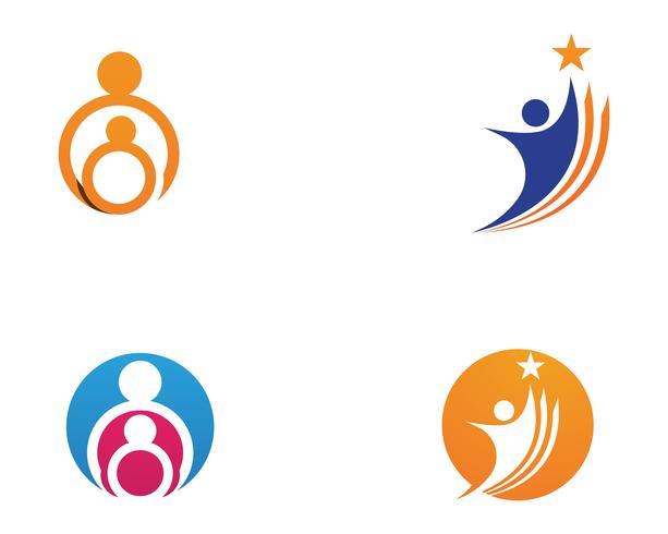 Antagande och samhällsvård Logo mall vektorikon ..