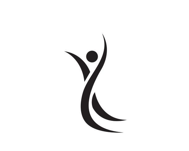 Gezondheidssucces mensen geven logo en symbolen sjabloon ..
