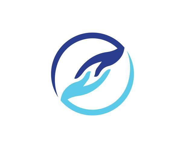 Hand help logo en symbolen sjabloon pictogrammen app