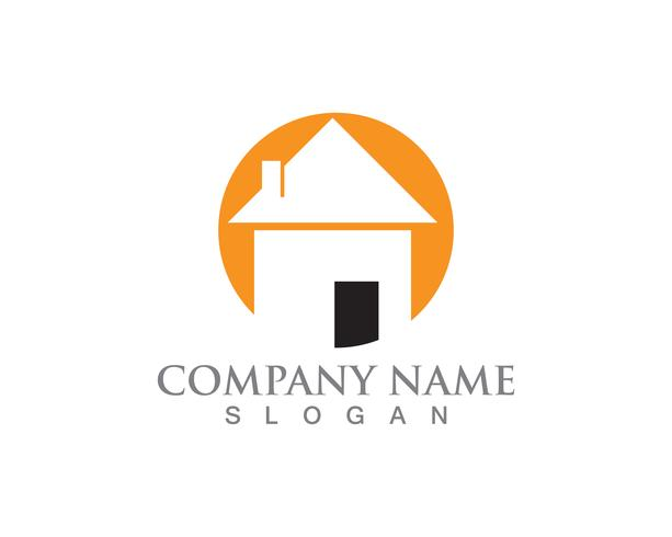 Simple House Home Real Estate Logo Ikoner vektor