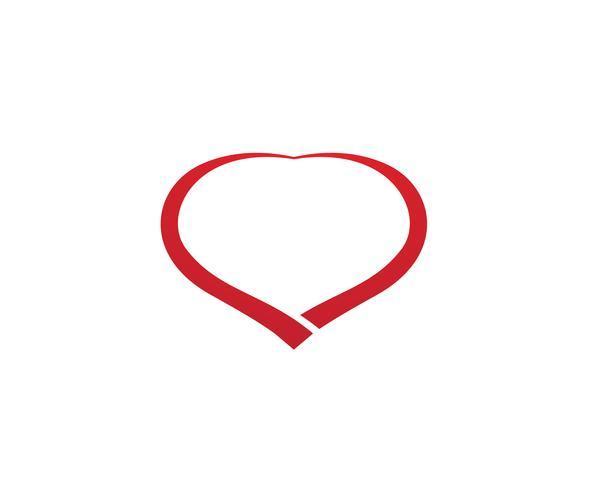 Amor Logo y símbolos Vector plantilla de aplicación de iconos