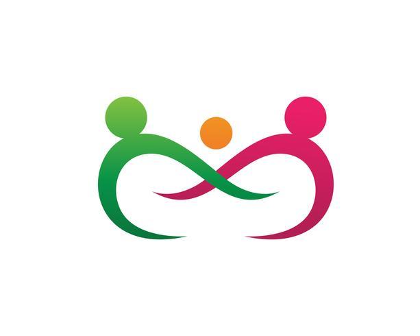 Adozione e cura della comunità Logo vettoriale modello icona ..