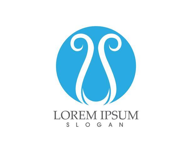 Waterdruppel natuur logo en symbolen sjabloon pictogrammen app ..