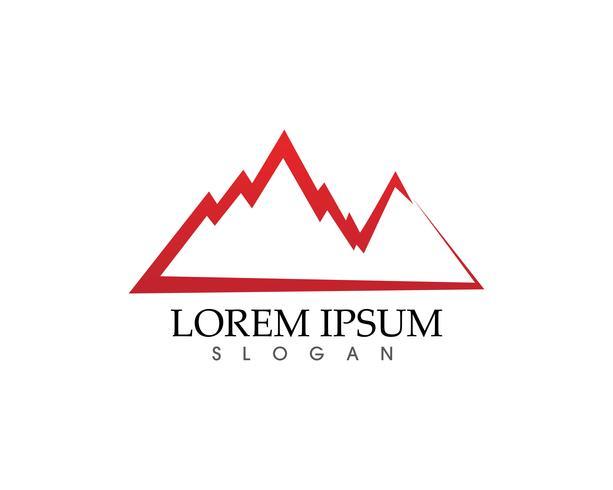 Montaña naturaleza paisaje logotipo y símbolos iconos plantilla ...