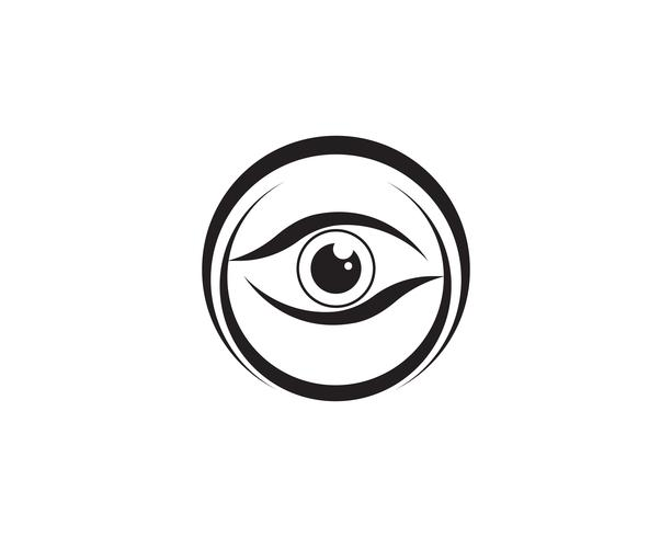 Eye care logo and symbols template vector icons app..