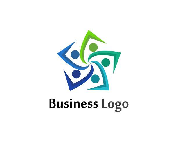 Gemeenschap logo mensen zorg en symbolen sjabloon