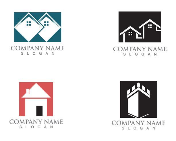 Simple House Home Real Estate-embleempictogrammen