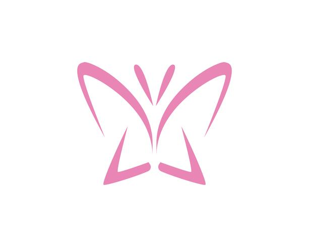 Butterfly konceptuell enkel, färgstark ikon. Logotyp. Vektor illustration ..