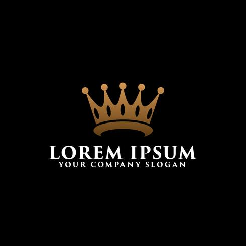 luxury crown logo design concept template