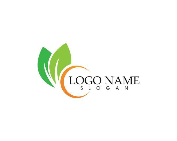 Ecologie vector pictogram logo en symbool sjabloon