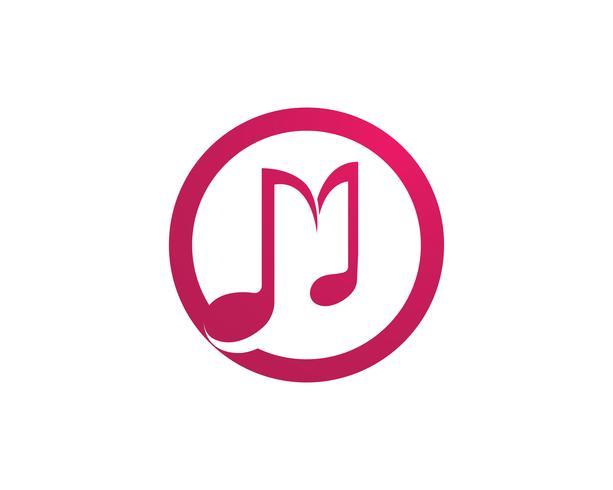 Modèle de logo et icônes de note de musique