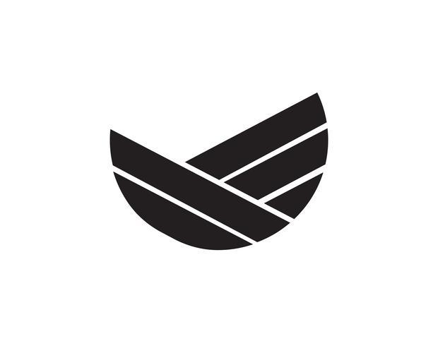 Logotipo de las finanzas del negocio y ejemplo del concepto del vector de los símbolos.