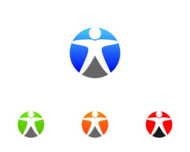 Gezondheid mensen logo zorg logo en symbolen sjabloon