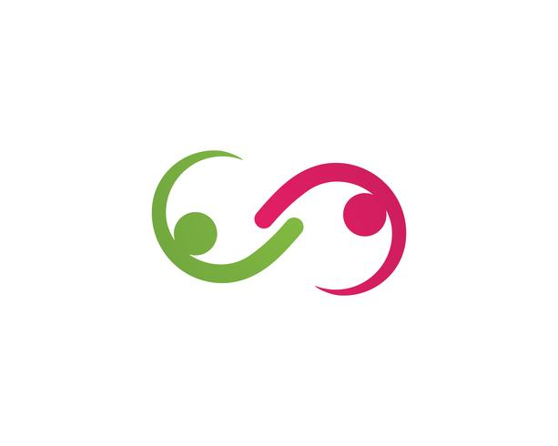 Adoption et soins communautaires Icône de vecteur de modèle de logo ..