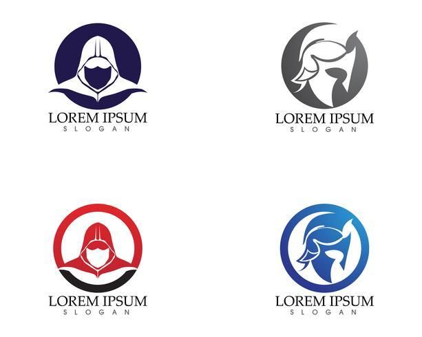 Maschera Gladiatore warior logo e simboli modello