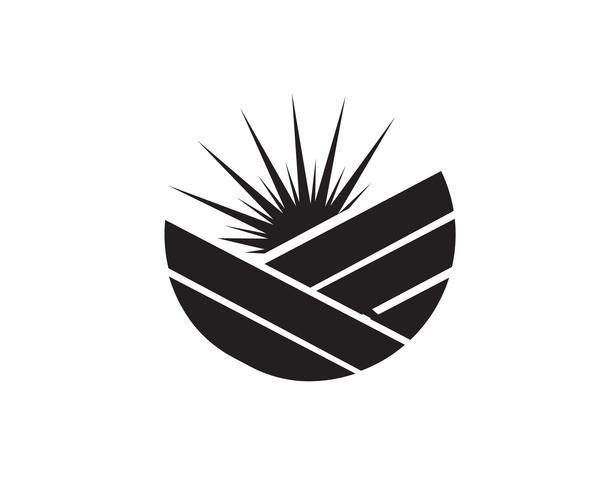 Zon logo en symbolen ster pictogram web Vector - ..