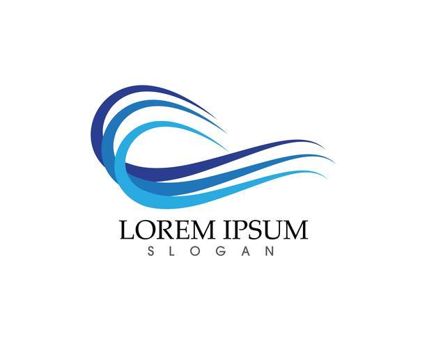 Golven strand logo en symbolen sjabloon pictogrammen app ..