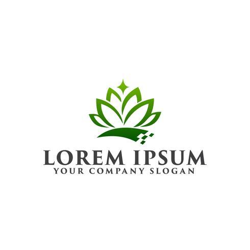 logo fiore verde. modello di concetto di design di bellezza Spa logo